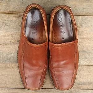 ECCO Leather Slip On Loafers Men 8.5 (42)